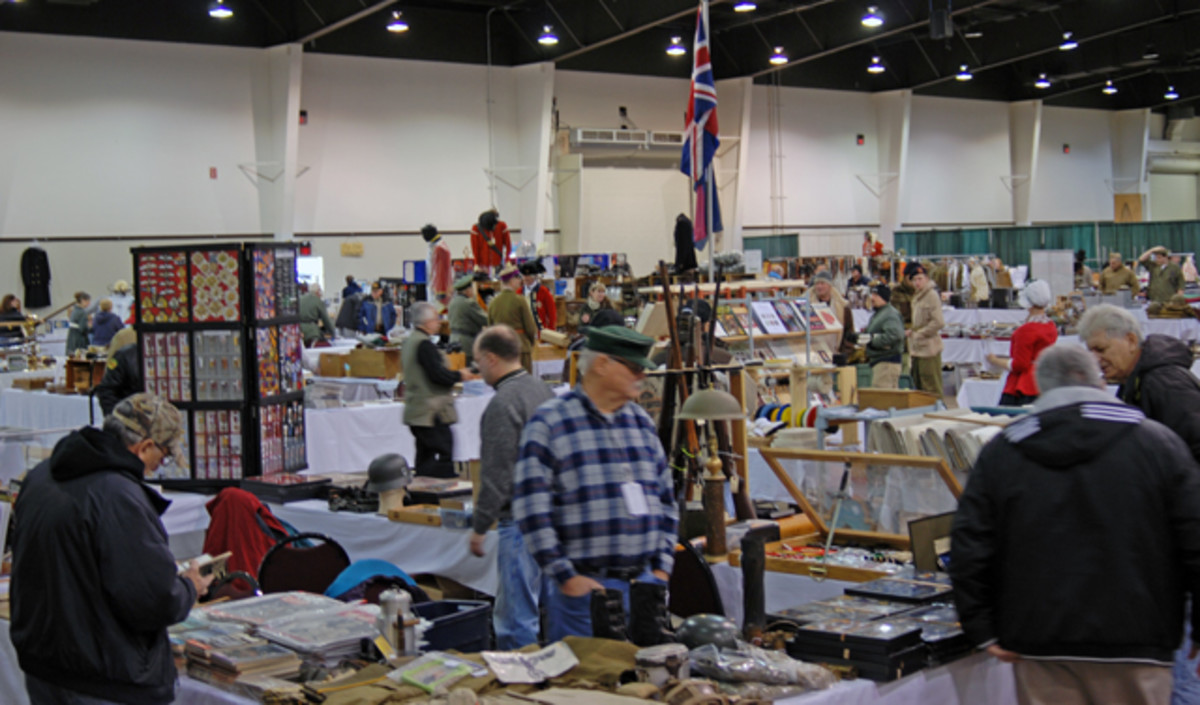 All 250 available tables were sold, with about 80% featuring reenacting supplies and 20% displaying original military relics.
