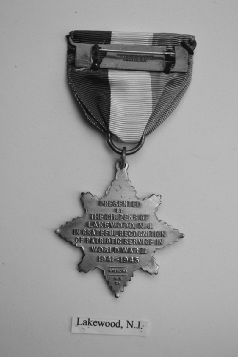 Lakewood, New Jersey, reverse of a WH6-style medal