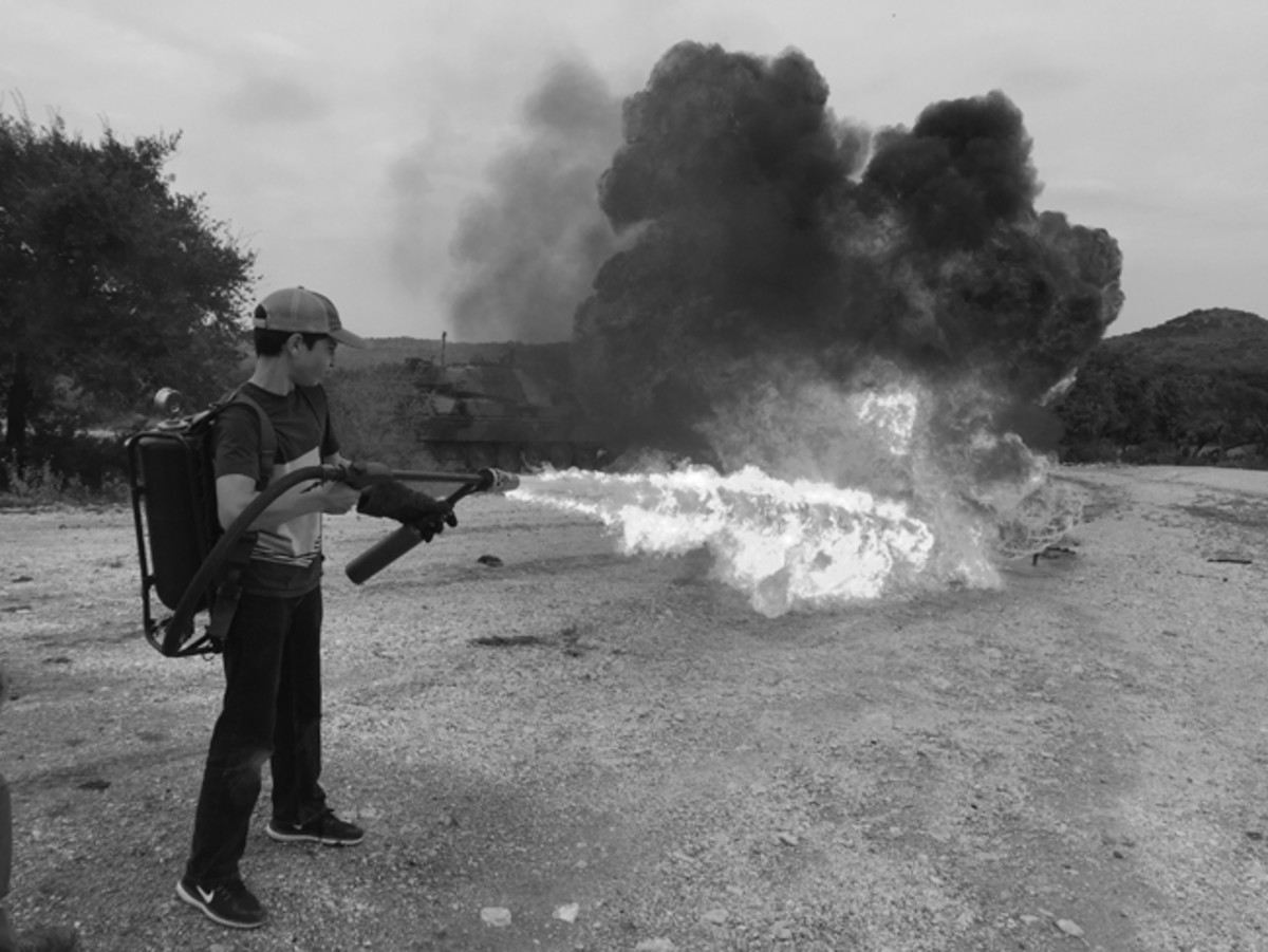 The Vietnam era flamethrower was a huge hit. The flame extended at least 30 feet and will devastate anything in its path.