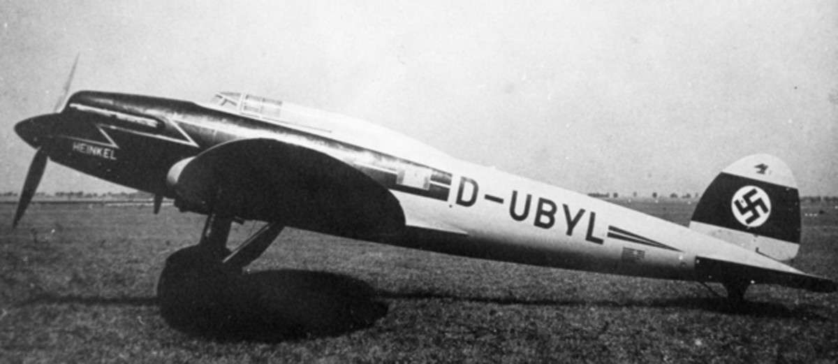 In 1938 the Heinkel firm modified the aircraft and the Lehmann firm followed with new accurate versions and Lehmann no longer issued these in civilian Lufthansa markings.