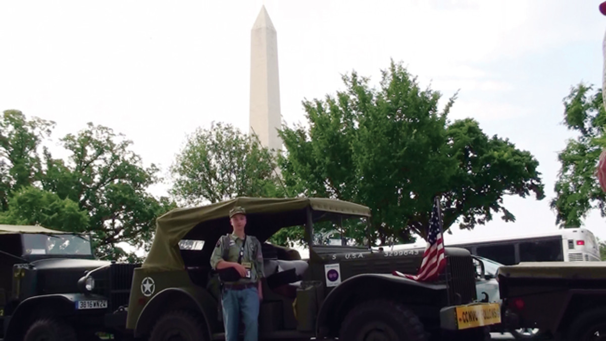 MVPA Convoys always follow historical routes that are living history lessons for all of us, but especially the younger folks. Gunnar is seen here in Washington, DC, for the kickoff of the 90th Anniversary of the First Transcontinental Motorized Convoy of 1919 that occurred in 2009.