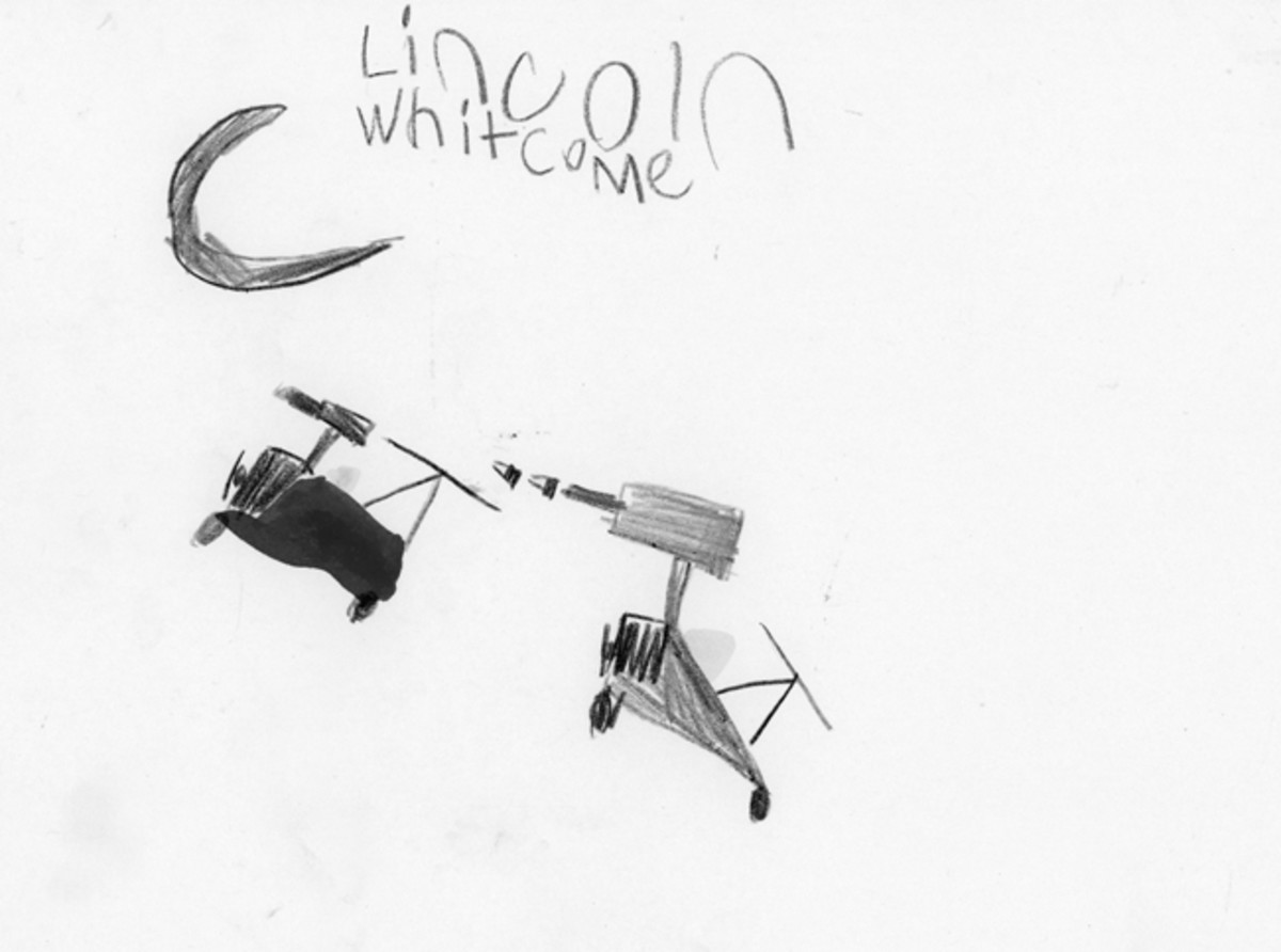 """Dog Fight,"" by Lincoln Whitcome, age 6"