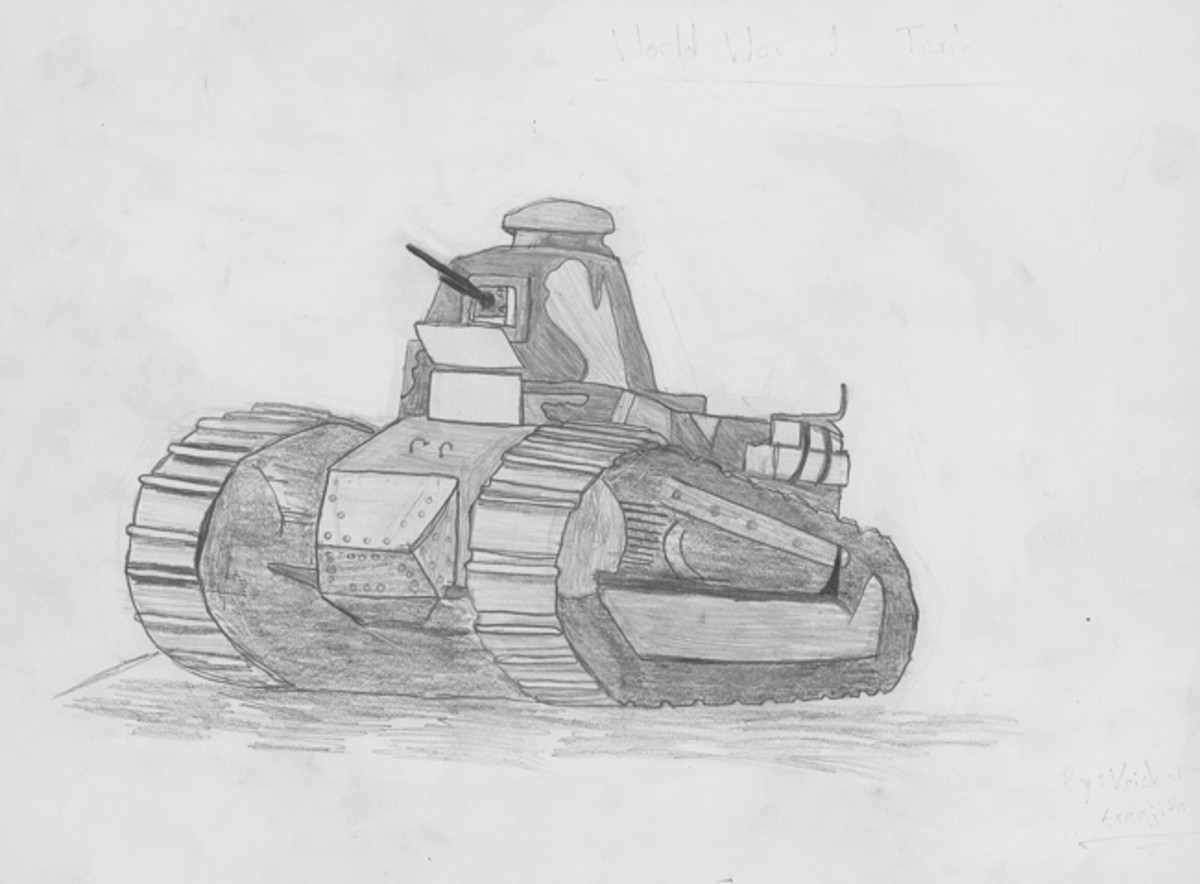 """World War 1 Tank,"" by Krishiv Sreejith, Sixth Grade"