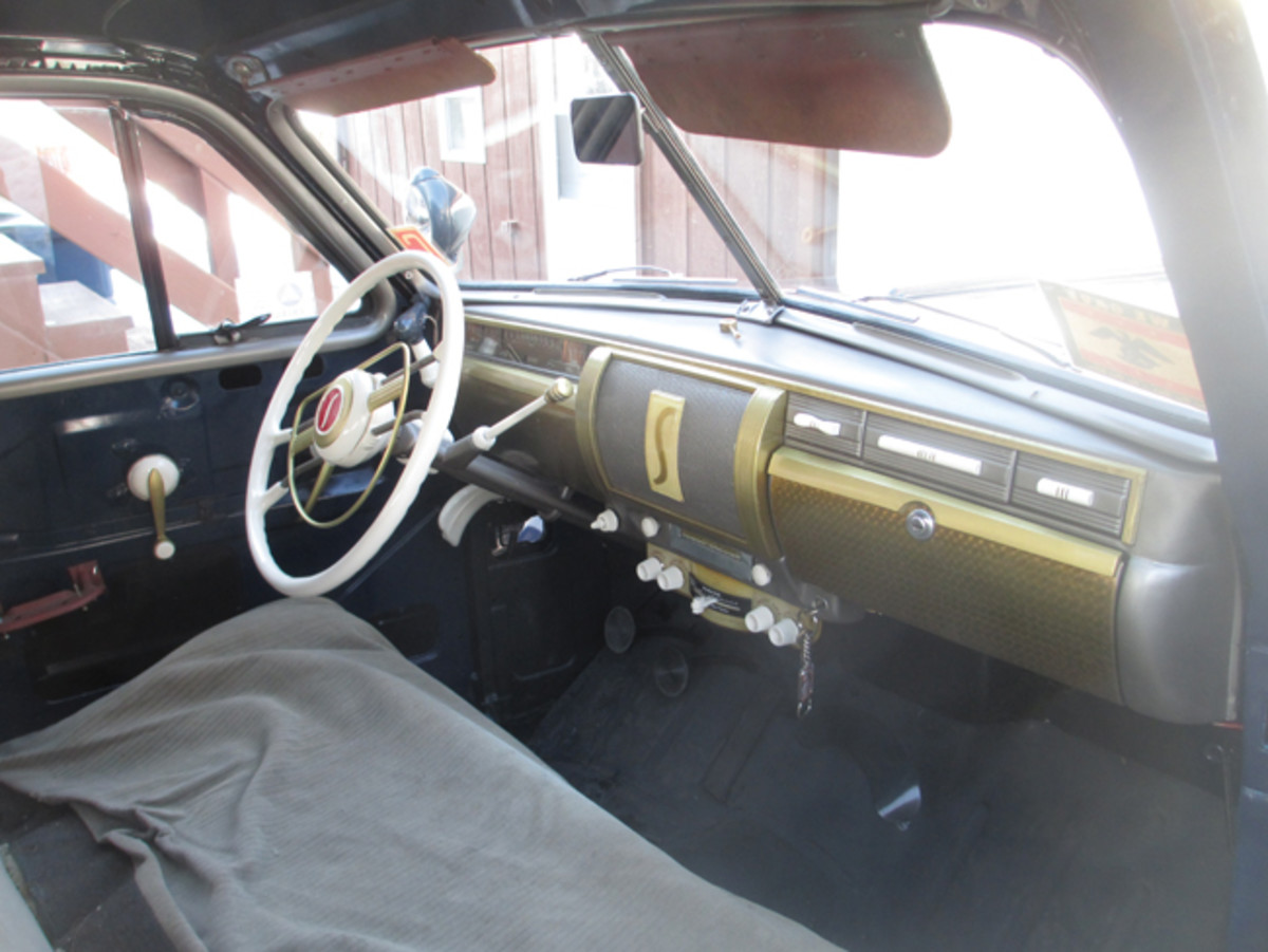 The restored dash with all working gauges features a rebuilt fuel gauge. The gauges on this car are unique only to this model and year, so finding originals that work is rare!