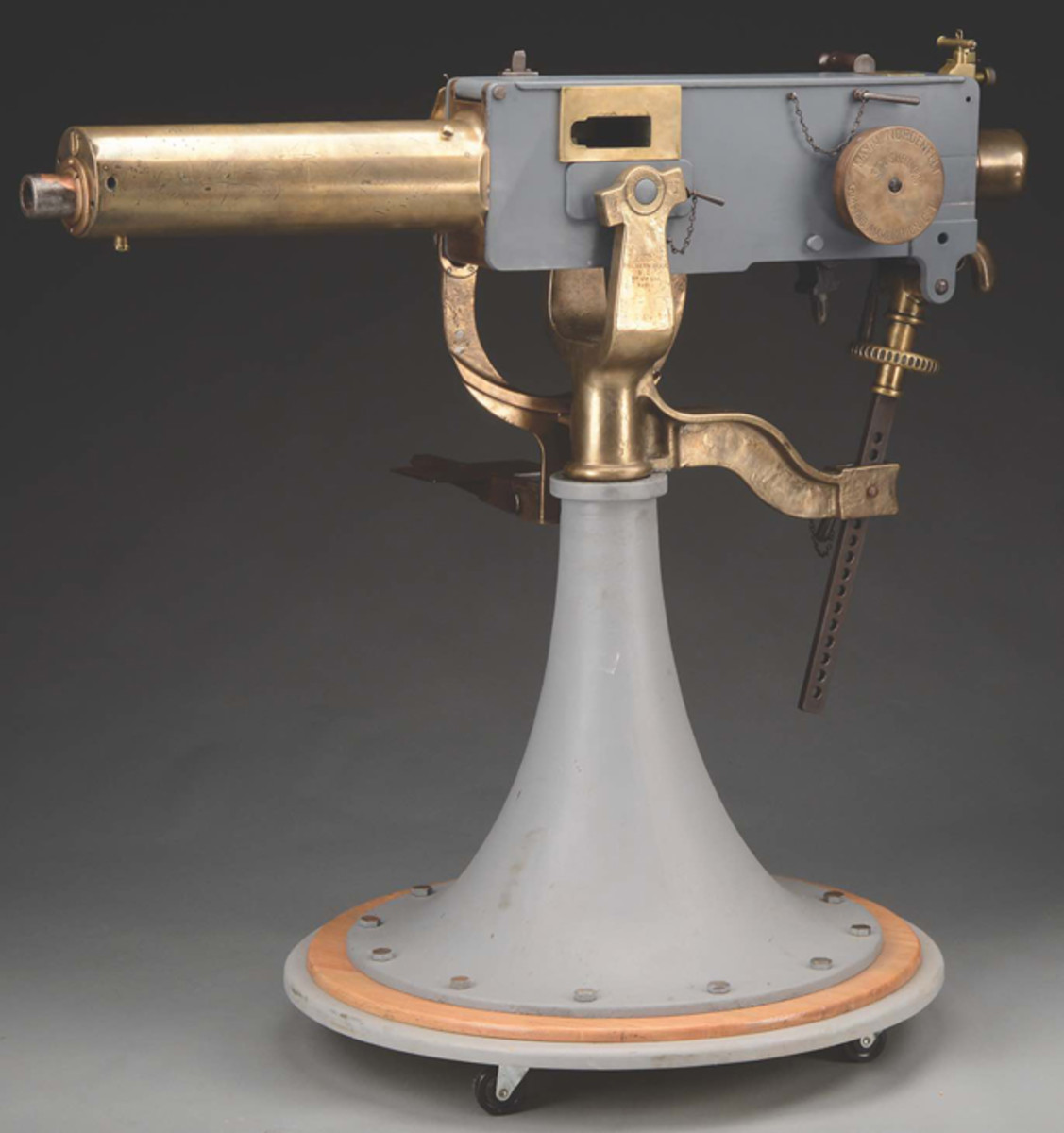 "A historically important Maxium Nordfeld 37 mm ""Pom-Pom"" Naval deck gun (exempt from NFA)."