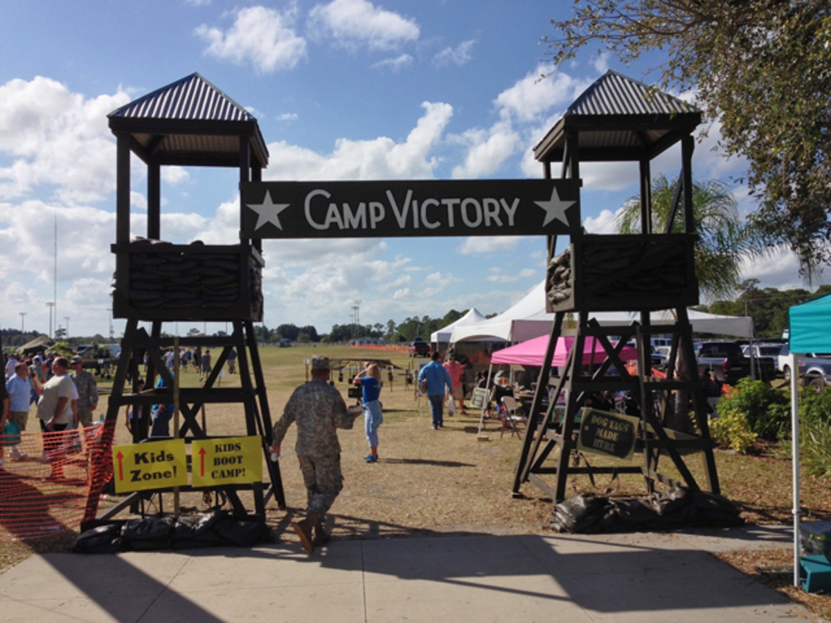 Camp Victory entry to Military Kids Zone.