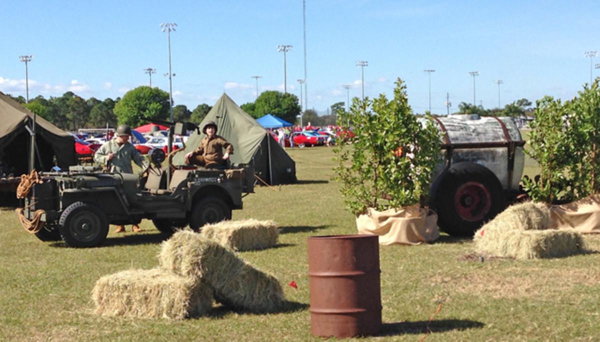 Re-enactor battle field