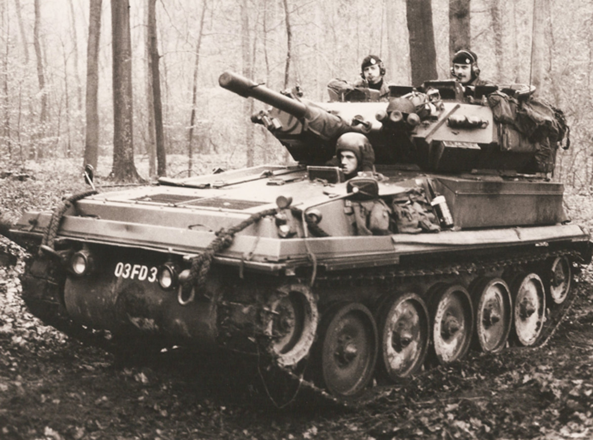Exercise with British army of the Rhine forces in West Germany during the Cold War.