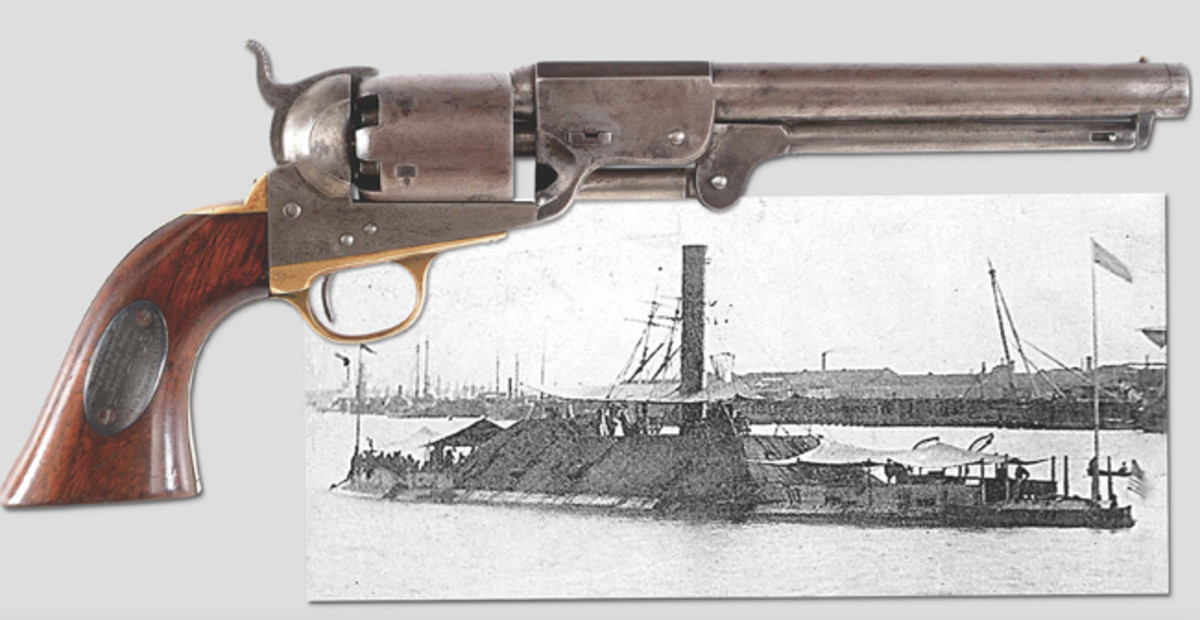 Historic Leech & Rigdon Confederate Revolver captured at the Battle of Mobile Bay, Alabama from the Confederate Iron Clad CSS Tennessee.