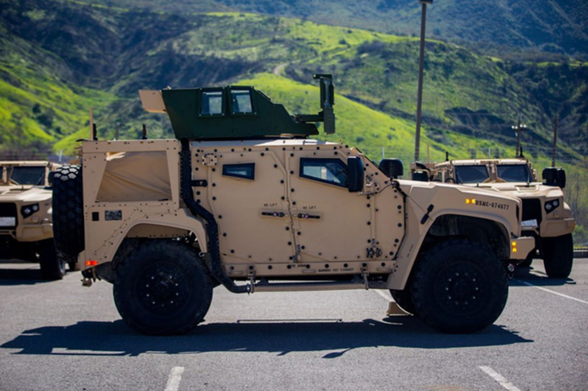 The Marine Corps' Joint Light Tactical Vehicles has achieved initial operational capability. The JLTV will fully replace the Marine Corps' aging High Mobility Multipurpose Wheeled Vehicle fleet. (U.S. Marine Corps photo by Cpl. Juan Bustos)