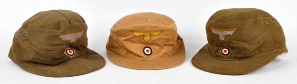 Nazi Coast Artillery/Army Tropical Caps