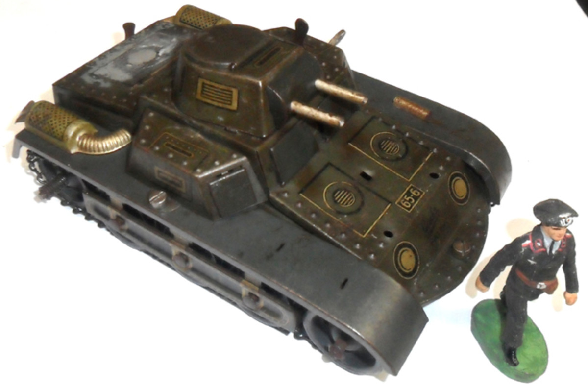 The Gescha version of the Panzer I was more simplistic than those of other manufacturers.