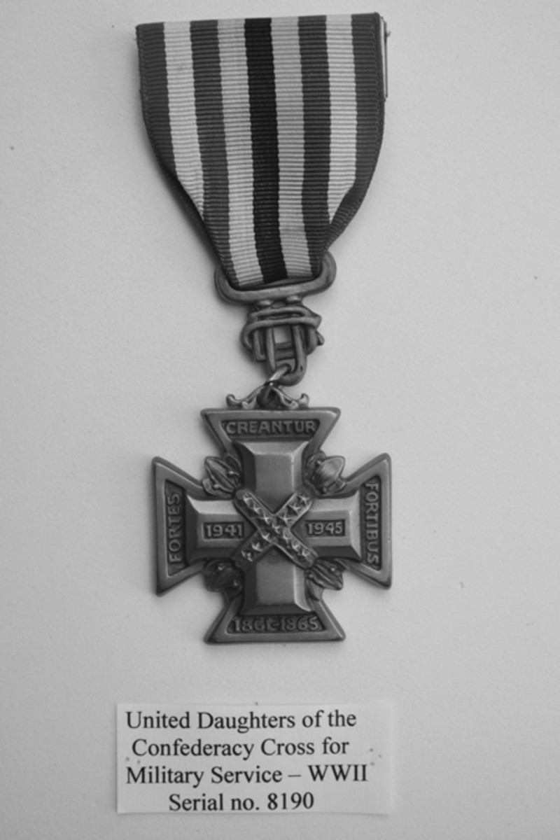 United Daughters of the Confederacy WWII Cross.