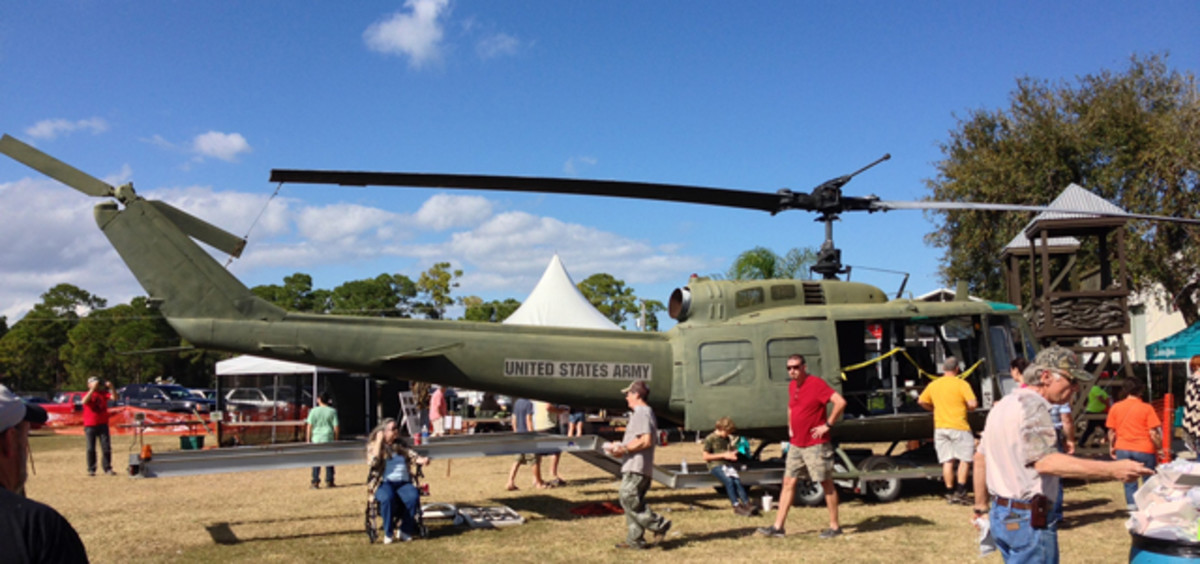 Vietnam Huey helicopter in the Kids Zone.
