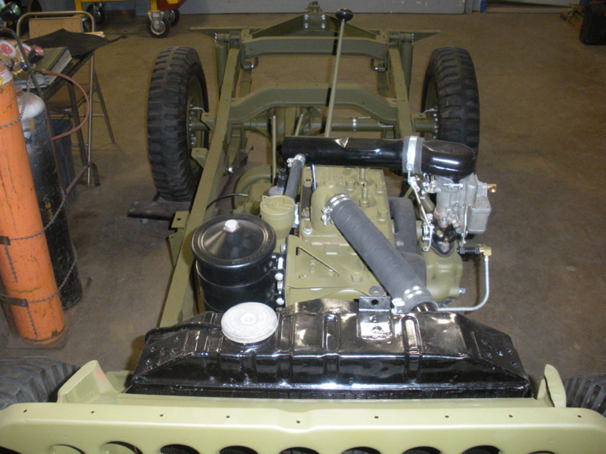 "Attention to the customer's requests is something Gary has always had to respect. He pointed to an off-frame restoration of a Jeep. ""This customer wanted to convert his CJ2A to a WWII-looking jeep. It might have been cheaper to start with a GPW or MB, but this is what he wanted,"" Gary explained."