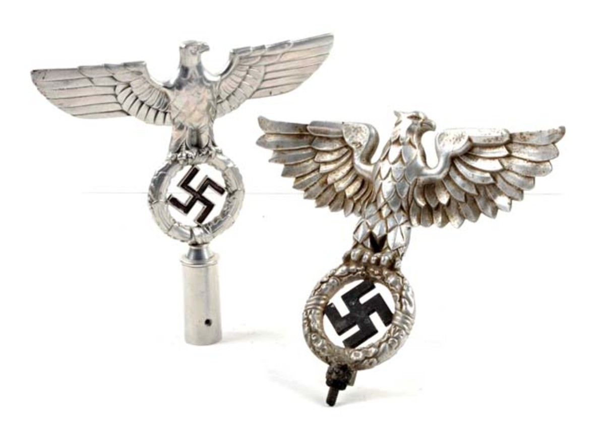 Two Nazi Pole Toppers