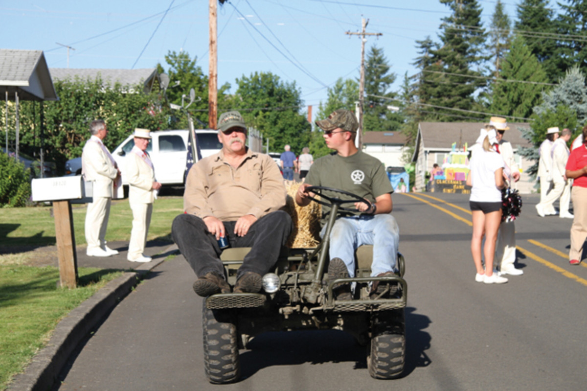 Participating in local events is important. Gunnar drove the M274A1 Mule loaded with his fellow high school wrestlers in the 2012 Sandy (OR) Mountain Festival Parade.