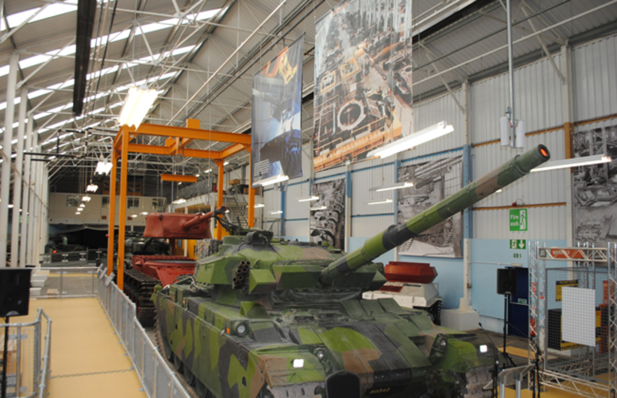 A new exhibit at the Bovington Tank Museums offers a rare glimpse into the assembly process in a tank factory.