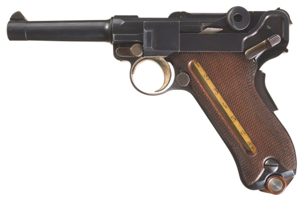"LOT3345-Extraordinary Documented DWM Model 1902 U.S. Army ""Cartridge Counter"" American Eagle Test Luger"