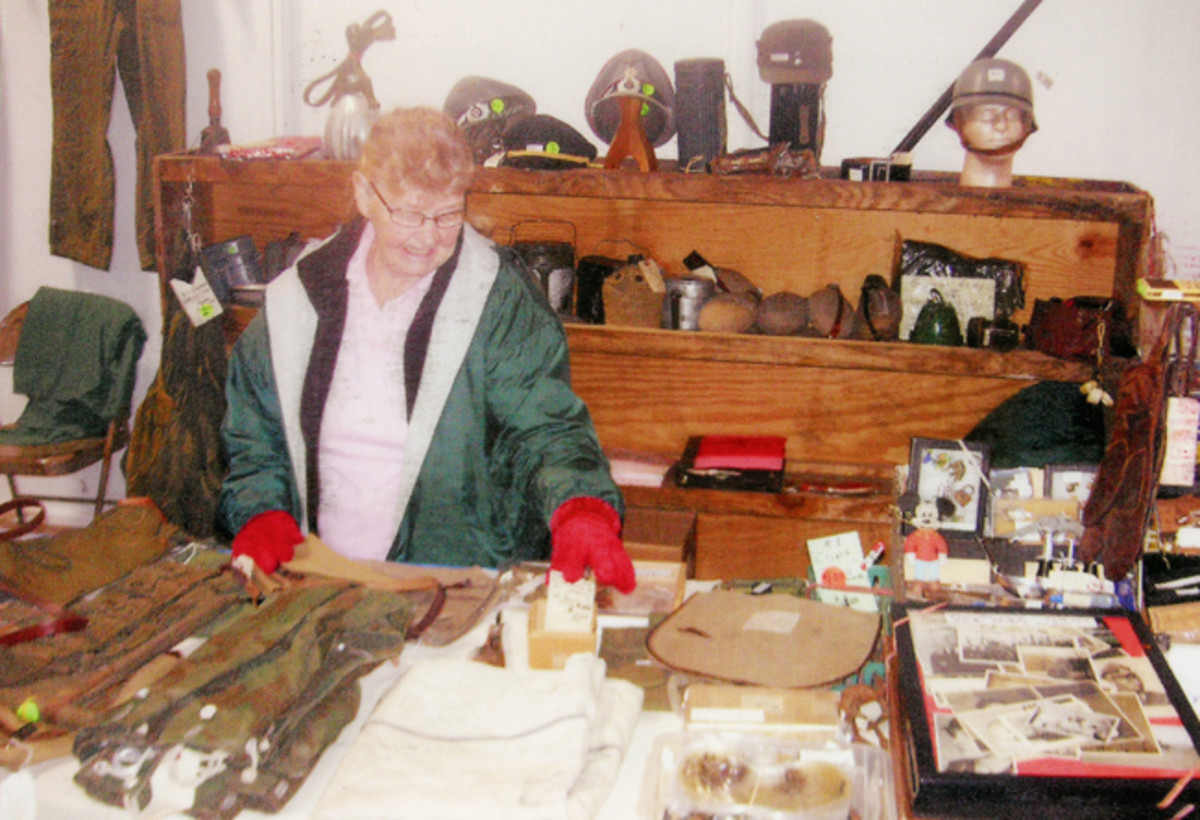 """I am going to take this opportunity to show my appreciation for MY biggest asset in the HMV hobby. It is my Dear little Frau, Anneliese Ratzburg, whom most people know a """"Lisa."""" She is a real, honest to goodness, WWII veteran – a German civilian who survived the loss of her home from USAF bombers in 1944."""