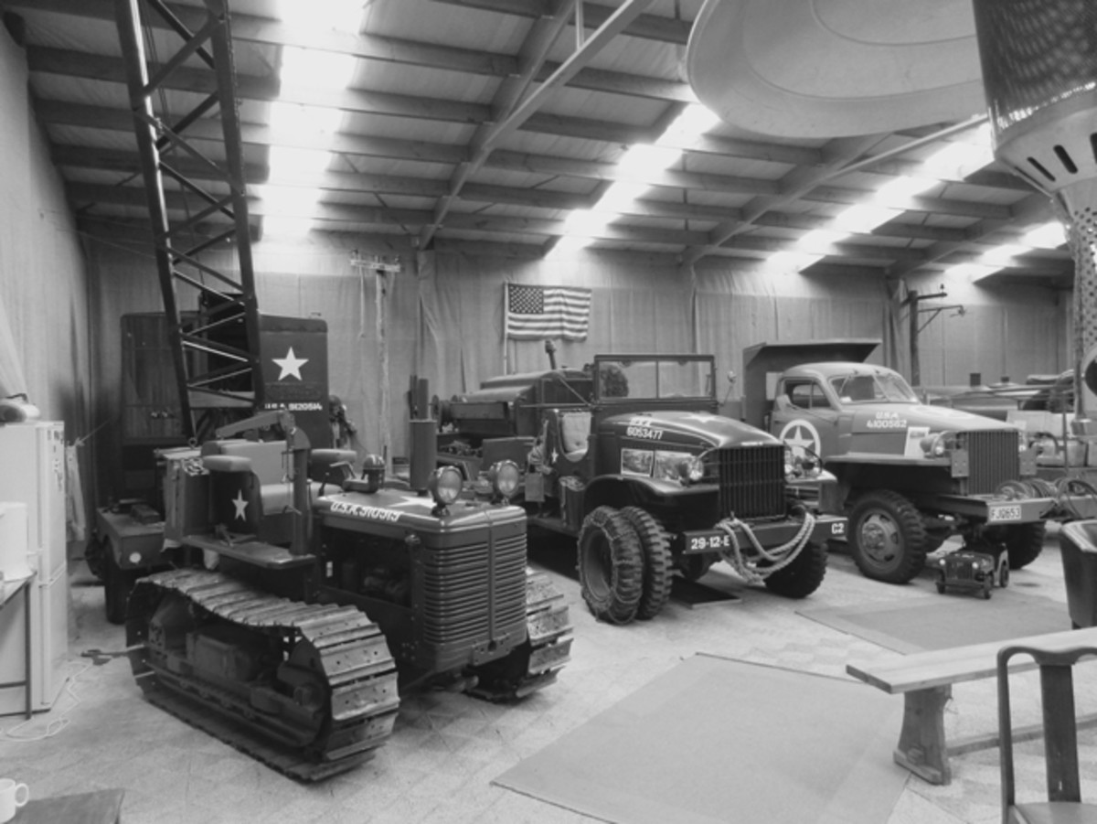 A convoy provides the opportunity to visit many museums and private collections like this group of US vehicles in a private collection.