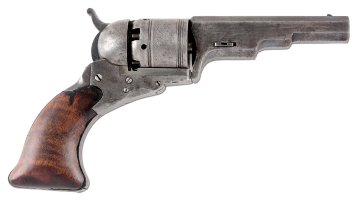 Extremely rare Colt No. 5 Texas Paterson revolver, exact gun depicted on Page 144 of The Colt Paterson Book by R.L. Wilson.