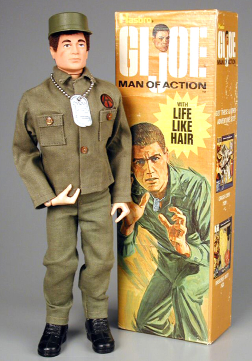 "The original GI Joe was marketed in 1964 as a ""Man of Action"" and featured, ""Life-Like Hair."" (Strong Museum photo)"