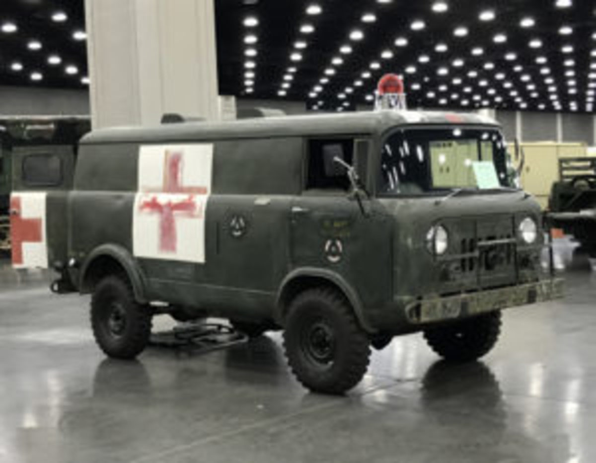 "Terry Dow's original condition 1965 M679 Forward Control Ambulance is a true ""survivor"" complete with much of its original medical equipment still onboard."