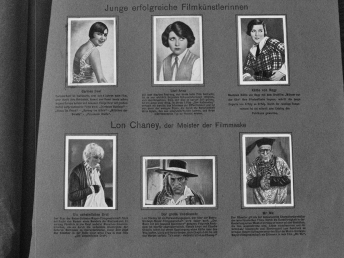 Actors and actresses were a popular subject.