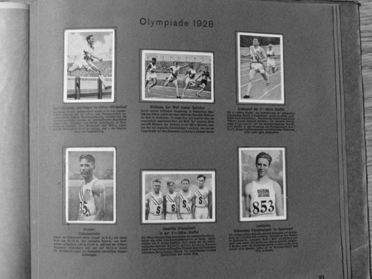 Sporting events such as the 1928 Olympics were excellent entertainment.