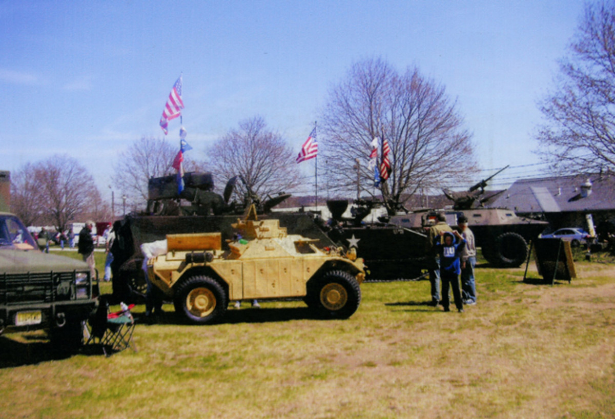 Armored vehicles and tanks drew a crowd.