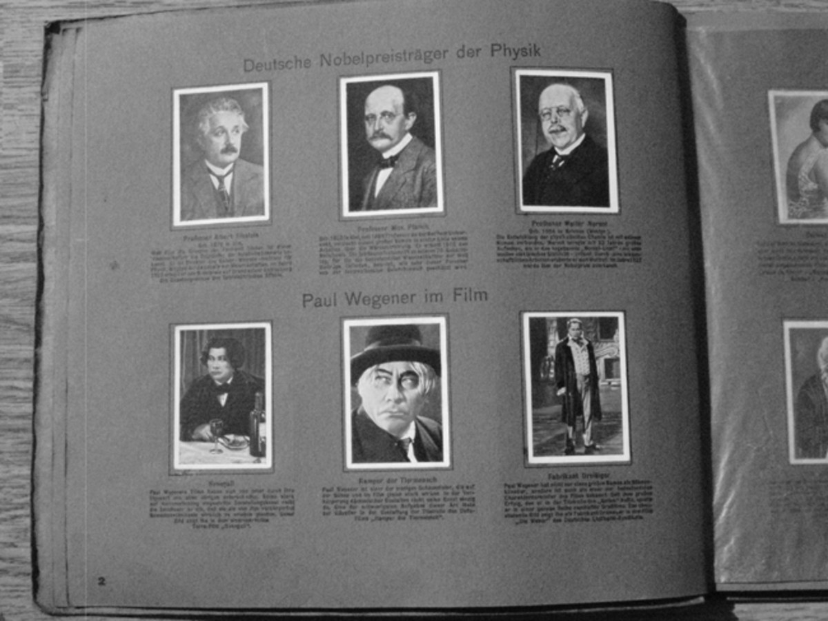 Pre-Nazi albums dealt with a cosmopolitan mixture of personalities such as Albert Einstein, who would not seen in Nazi era books.