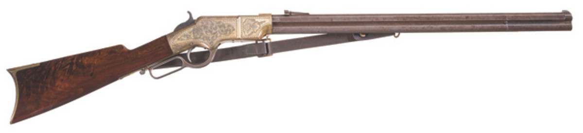 LOT 42-Deluxe Factory Engraved New Haven Arms Henry Lever Action Rifle