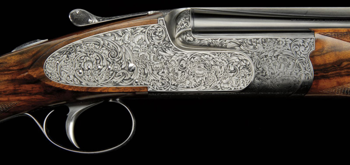 410 Ivo Fabbri Sidelock Ejector gun from the Robert E. Petersen Collection carried a presale estimate of $75,000-125,000. It generated $74,750.