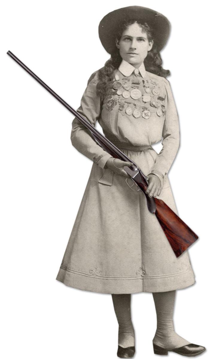 Annie Oakley's personal 12 ga. William Cashmore Boxlock. Presale estimate $125,000-175,000 and shot to $207,000.