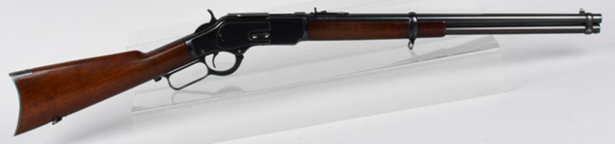 Winchester 1873 (patent) .44 caliber saddle ring carbine rifle shipped from warehouse in 1889, traveling salesman's sample. Estimate: $15,000-$20,000. Image - Milestone Auctions