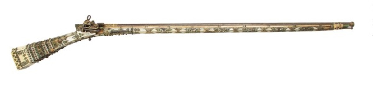 18th-century Middle Eastern or South East European musket. Price realized: $32,760.