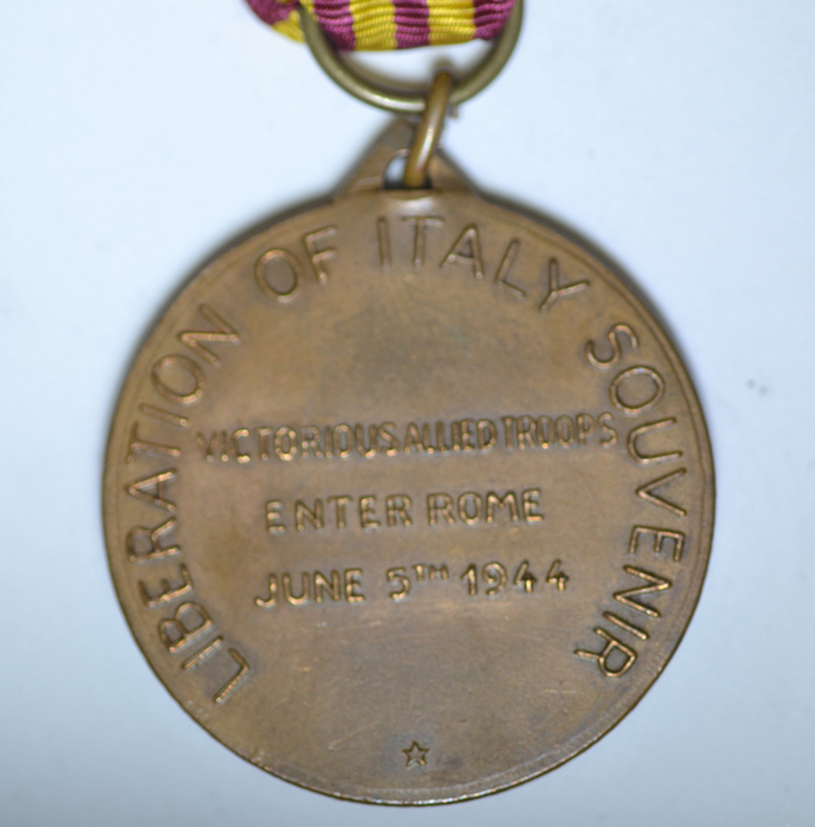 The large diameter Type 4 Liberation of Rome Medal exposes the souvenir nature of the medal.