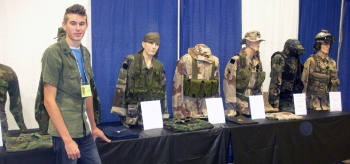 Collector Tanner Robbins had a great display of Navy Seal uniforms and equipment dating from 1975-2005. Surprisingly, Tanner has assembled this amazing collection in just a bit over two years. In that time, he has interviewed a number of Team 5 members as well.