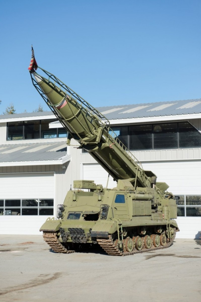 The 8K11 Surface-to-Surface Missile (SCUD-A), one of only two in private ownership, sold for a strong $345,000 at Saturday's sale of the Littlefield Collection (photo courtesy Auctions America)