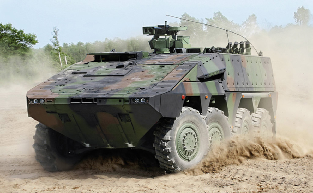 Currently, the armies of the Holland, Germany, Great Britain, and Australia have placed orders for the MRAV