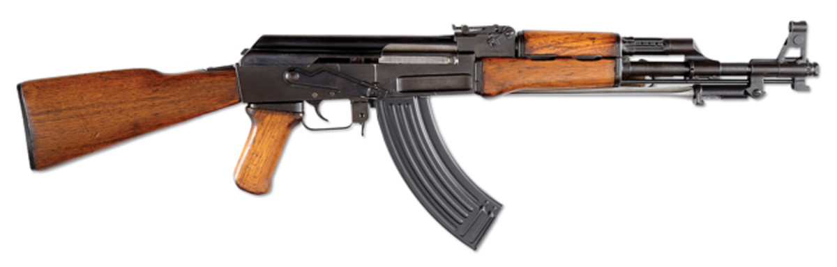 Vietnam War trophy Chinese type 56 Machine gun. Presale estimate $20,000-40,000 with a final selling price that exploded at $132,250. Class-3 performed very well in this sale and it traditionally has done very well at Julia's.