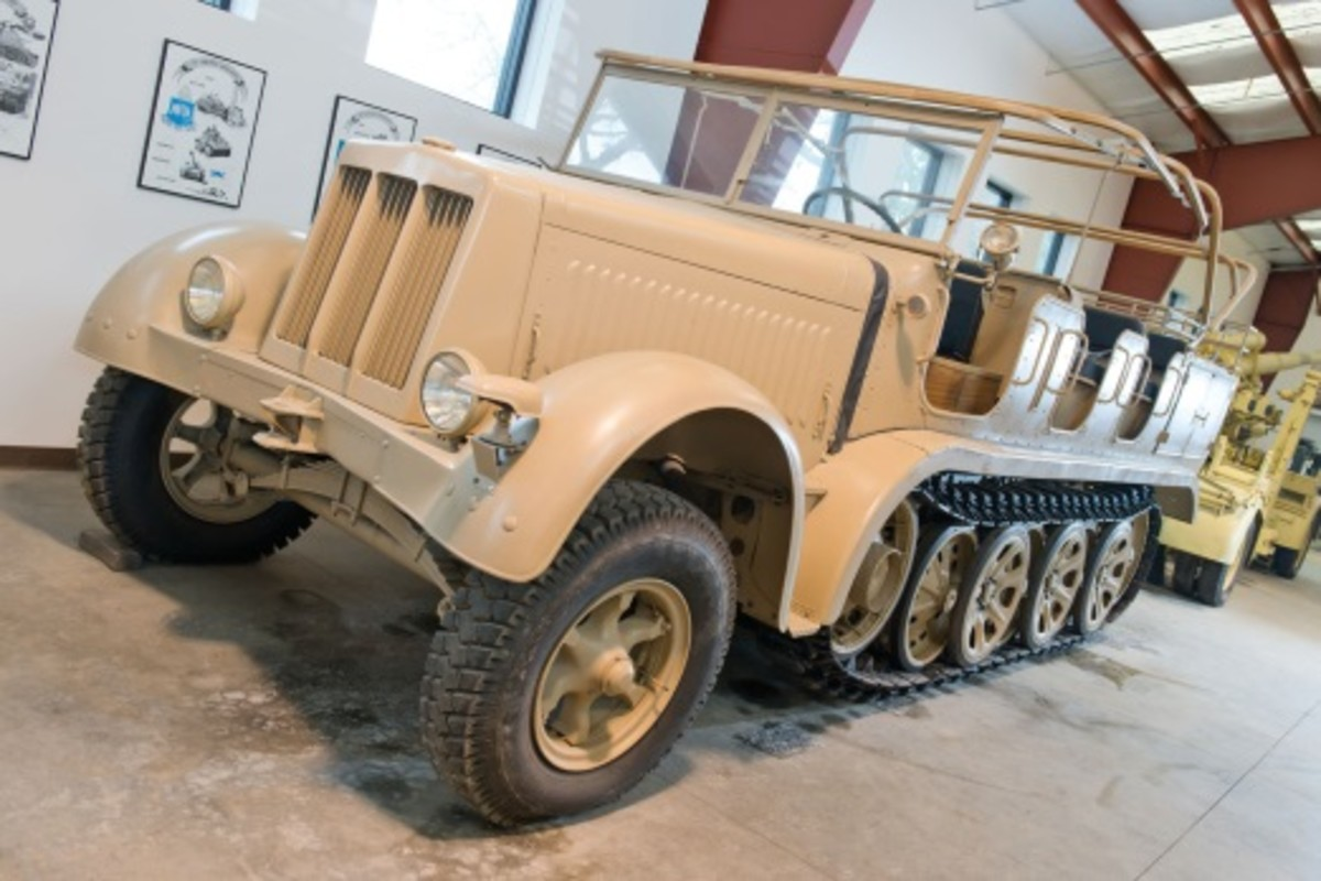 The sale-topping Sd.Kfz.7 (KM M11) 8-Ton Half-Track achieved a remarkable $1,207,500 (photo courtesy Auctions America)