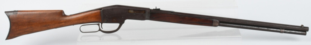 Winchester experimental or prototype .32-.40 caliber lever-action rifle, documented in 1991 article titled 'An Unknown Winchester Rifle.' Provenance: John Kopec collection. Estimate: $10,000-$15,000. Image - Milestone Auctions