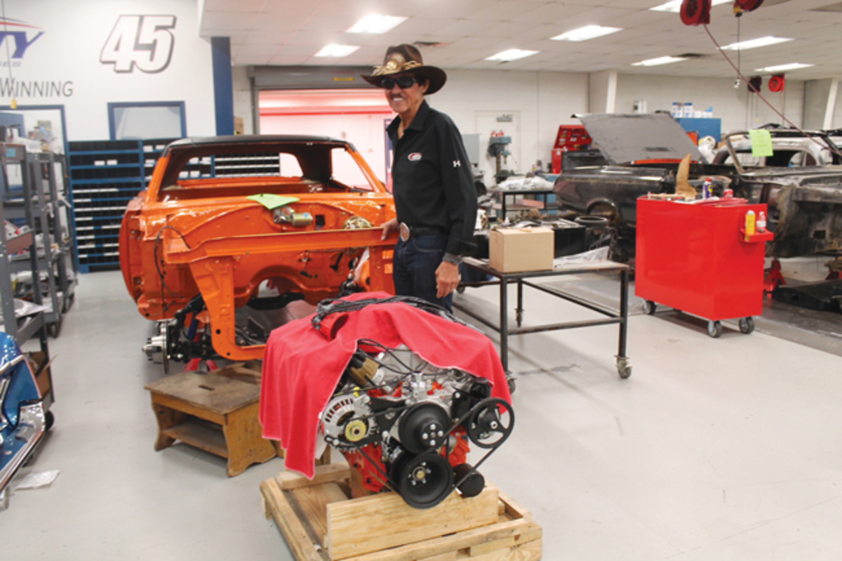 "When discussing some of the significant vehicles he has restored, Eric admitted, ""This is one that I could not do myself. Who could possibly to a better job on a Superbird than Richard Petty? He is completing the three-year build of a Hemi Superbird for me and my twin brother Mike."""