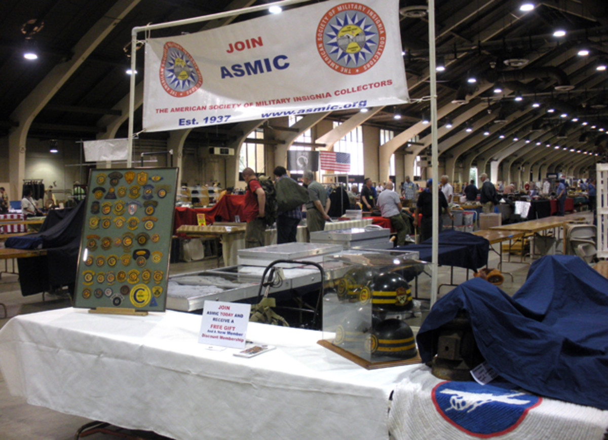 The American Society of Military Insignia Collectors (ASMIC) had a large booth with an incredible display of patches and Constabulary helmets. If you haven't joined, check out the benefits of membership at ASMIC's website, www.asmic.org.