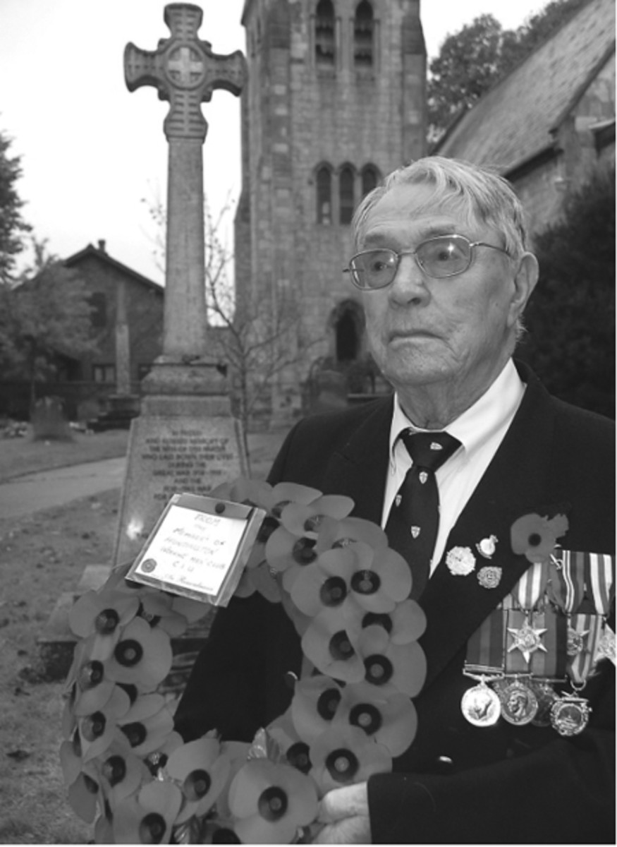 Company Sgt. Balding in 2013 ready to lay a wreath on remembrance day for his fallen comrades.
