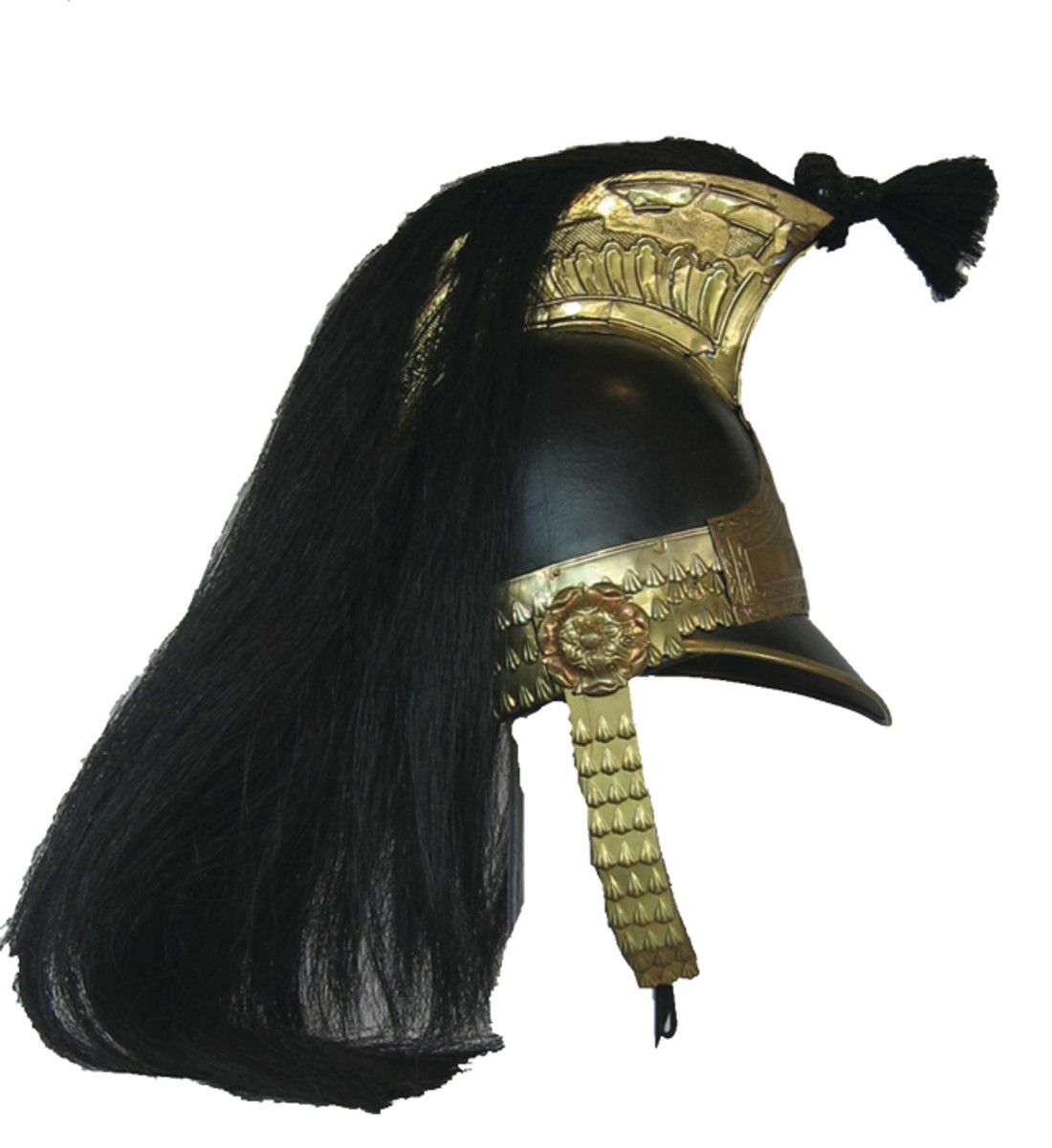 The Ellwood Roman Air Tube helmet has a shape that is similar in design to the metal and leather helmets that were adopted by the Household Cavalry units following the Napoleonic Wars. This style of helmet featured a Romanesque comb and remained in use until it replaced by the Albert-pattern introduced in the 1840s.