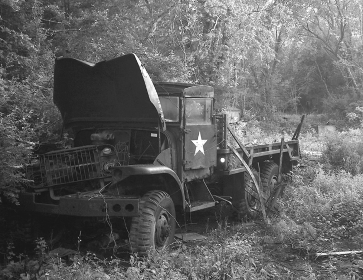 """While some HMV folks buy their vehicles from government surplus dealers, and other vehicles are purchased at government auctions, most vintage military vehicles come into our hands from private sources. We become aware of them through ads in this magazine or other vehicle publications, on eBay or other internet sites, and/or through ads in local papers. Sometimes, we simply spot a vehicle in someone's driveway or out in a field — often, when we're not looking for one. These are generically called """"barn finds."""""""