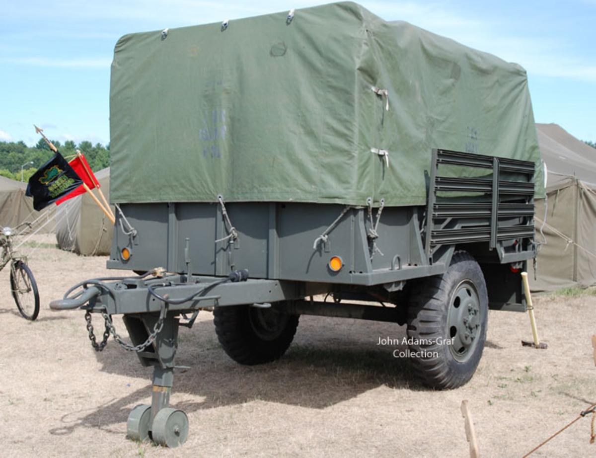 XM105E3 1-1/2-ton trailer made by Checker Cab, Kalamazoo, MI.